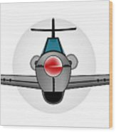 Old Style Fighter Aircraft Wood Print