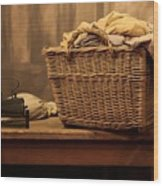 Old Style Laundry Wood Print