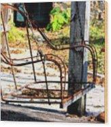 Old Swing Wood Print