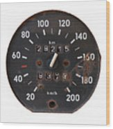 Old Tachometer Wood Print