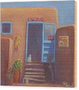 Old Taos Grocery Wood Print
