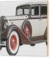 Old Time Auto Wood Print