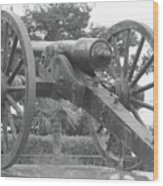 Old Time Cannon Wood Print