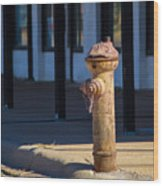 Old Time Hydrant Wood Print