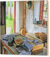 Old Time Kitchen At Old World Wisconsin Wood Print