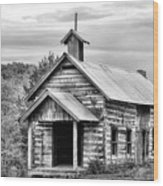 Old Time Religion Bw Wood Print