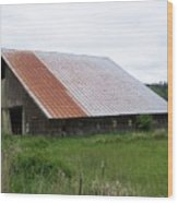 Old Tin Roof Barn Washington State Wood Print