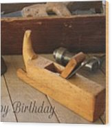 Old Tools Wood Print