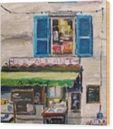 Old Town Cafe Wood Print