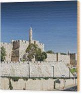Old Town Citadel Walls Of Jerusalem Israel Wood Print