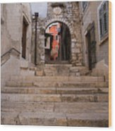 Old Town Entrance Wood Print
