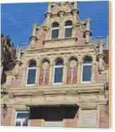 Old Town House Facade In Baden-baden Wood Print
