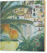 Old Town Ibiza Wood Print