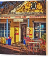 Old Town Ice Cream Parlor Wood Print