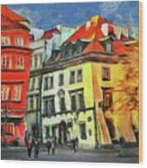 Old Town In Warsaw # 27 Wood Print
