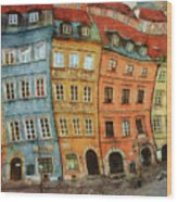 Old Town In Warsaw # 32 Wood Print
