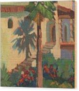 Old Town La Quinta Palm Wood Print