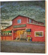 Old Town Mall Bandon Wood Print