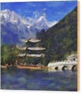 Old Town Of Lijiang Wood Print