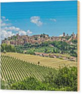 Old Town Of Orvieto, Umbria, Italy Wood Print