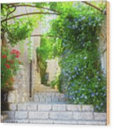 Old Town Of Provence Street Wood Print