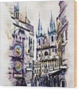 Old Town Square In Prague Wood Print