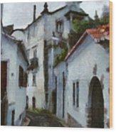 Old Town Street Wood Print