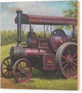 Old Traction Engine. Wood Print