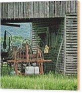 Old Tractor - Missouri - Barn Wood Print
