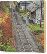 Old Train Station Norwich Vermont Wood Print