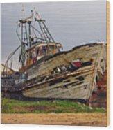 Old Trawler Wood Print