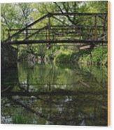 Old Trestle Bridge Wood Print