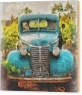 Old Truck At The Winery Wood Print