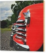 Old Truck Grille Wood Print