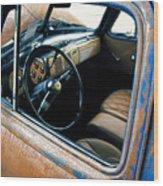 Old Truck Rusty Wood Print