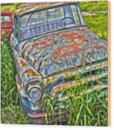 001 - Old Trucks Wood Print