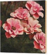 Old Victorian Fuchsia Pink Rose Wood Print