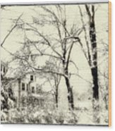 Old Victorian In Winter Wood Print