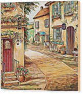 Old Village 3 Wood Print