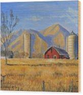 Old Vineyard Dairy Farm Wood Print