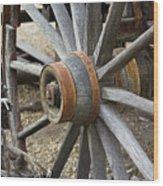 Old Waagon Wheel Wood Print