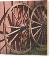 Old Wagon Wheels Wood Print