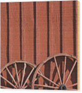 Old Wagon Wheels IIi Wood Print