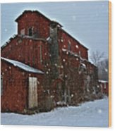 Old Warehouse Wood Print