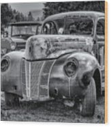 Old Warrior - 1940 Ford Race Car Wood Print