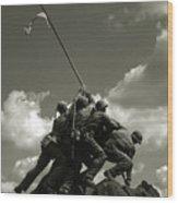 Old Washington Photo - Iwo Jima War Memorial Wood Print