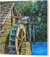 Old Watermill Wood Print