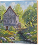 Old Watermill Wood Print
