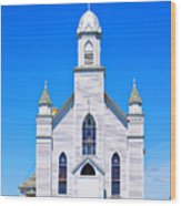 Old Weathered Church On Hill Top Wood Print