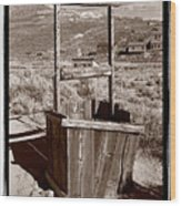 Old Well Bodie Ghost Twon California Wood Print